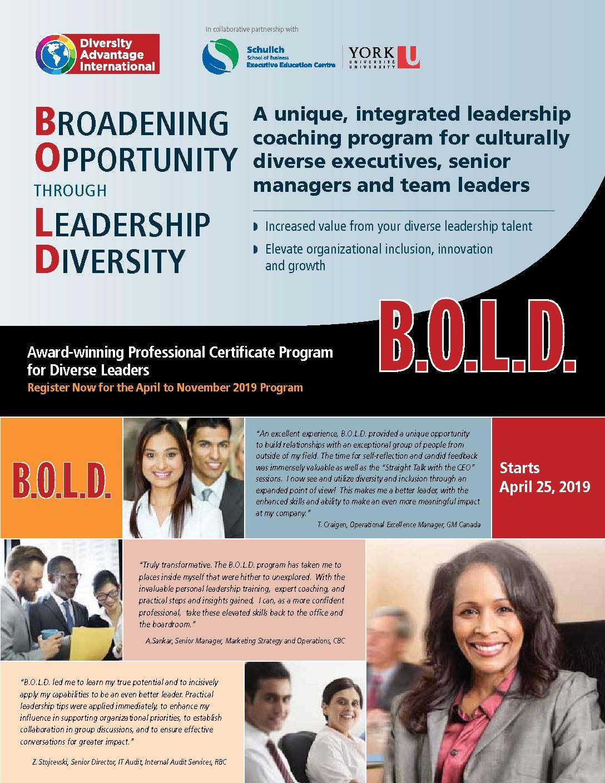 B O L D  – LCI Associates   Diversity Advantage International